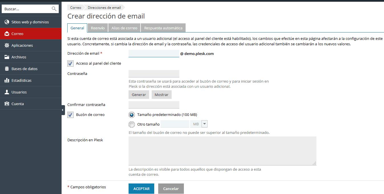 Cree una cuenta de correo